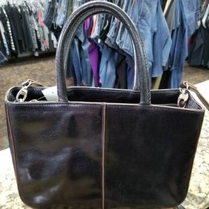 Hobo The Original Tote - Black/Brown Leather